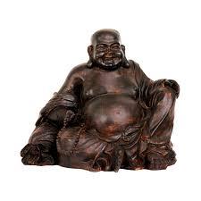 Home Decor Buddha Statue Shop Oriental Furniture Oxidized Bronze Antiqued Patina 8inch