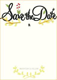 save the date cards free template save the date card template