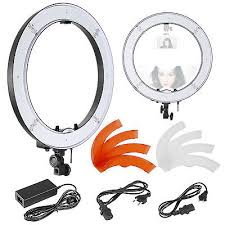 neewer led ring light neewer 18 inches 55w led 5500k dimmable ring light kit with light