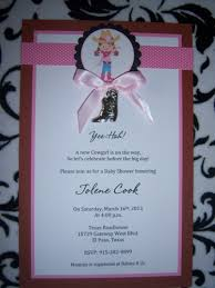 western baby shower western baby shower or birthday party invitations