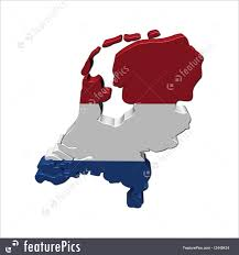 netherlands map flag netherlands map flag 3d render illustration