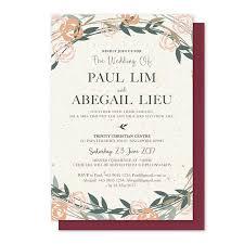 invitation card minimalistic autumn floral invitation card miraculove