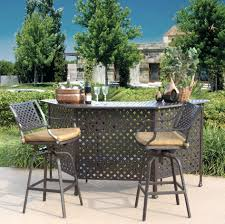 Outdoor Bar Table Set Patio Ideas Patio Bar Table Set Darlee Series 60 Mocha Aluminum