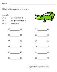 collections of greater than less than worksheet for kindergarten