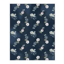navy blue wrapping paper blue florals gift wrap sunday bake the most delicious cakes in nyc