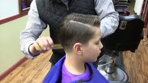 kid u0027s haircut with a comb over and a hard part youtube