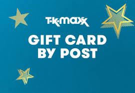 gift cards tk maxx