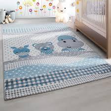 teppich f r kinderzimmer designer kinderteppich kinderzimmer teppich tiermotiv grau weiß blau
