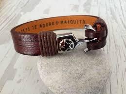 bracelet handmade leather images Men 39 s personalized bracelet men 39 s leather bracelet anniversary jpg