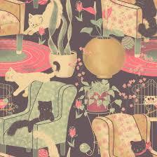 pattern illustration tumblr cat lady pattern by pronouncedyou on deviantart