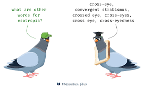 words cross eye and esotropia similar meaning