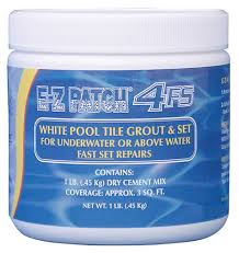 e z patch 4 f s white pool tile grout repair fast set 1 lb