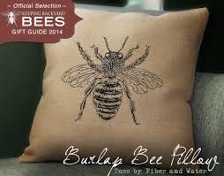 burlap bee pillow keeping backyard bees