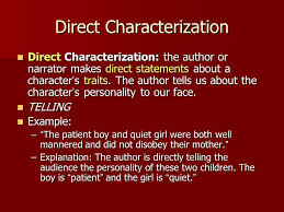 Characterization Direct Vs Indirect Characterization Ppt Download