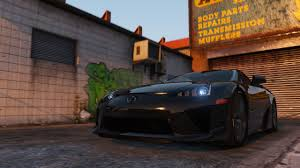 lexus sport car lfa 2010 lexus lfa add on replace livery gta5 mods com