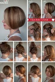 how to braid short hair step by step hair tutorial how to create a faux bob hair romance
