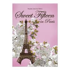 eiffel tower invitations eiffel tower sweet 15 fifteen invitations lilac zazzle