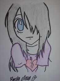 drawn adorable emo pencil and in color drawn adorable emo