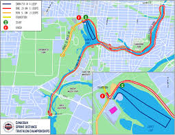 Ottawa Canada Map by Sprint Distance Championships Ottawa International Triathlon