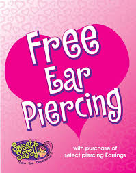 sweet and sassy earrings sweet sassy ear piercing is free at sweet sassy