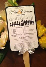 fan programs diy fan wedding programs ceremony spaces details fan