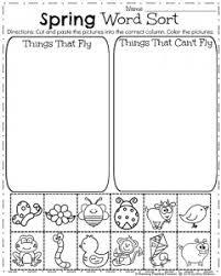 spring kindergarten worksheets kindergarten worksheets