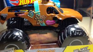 monster truck jam youtube wheels monster jam 1 24 scale scooby doo new for 2014 youtube