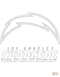 los angeles chargers logo coloring page free printable coloring