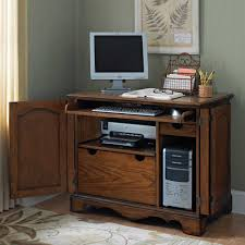 Small Computer Desk With Hutch by Furniture Hideaway Desks Office Armoires Office Armoire