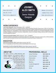 Web Design Resume Template Free Creative Resume Templates Word Resume Template And