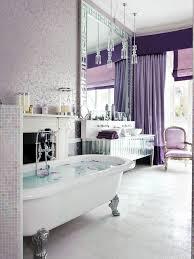 Grey White And Purple Bathroom Elegant Purple Bathroom In Luxury Home Interior Designing With