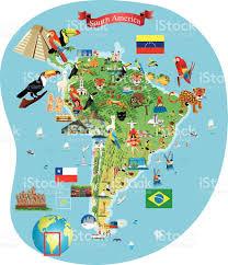 Lima Map South America Cartoon Map Stock Vector Art 475198466 Istock