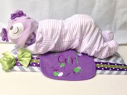 sleeping baby made with diapers request a custom order and have