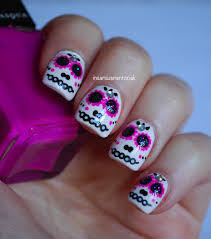 candy skull nail art best nail 2017 sugar skull waterslide nail