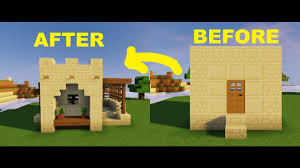 Small House Minecraft Minecraft How To Remodel Desert Village Small House Youtube