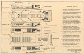 star trek blueprints powell class long range warp shuttle