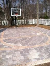 backyard basketball court flooring backyard basketball court backyard sports pinterest backyard