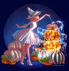Witchsona Cinderella As A Halloween Witch With Magical Pumpkins