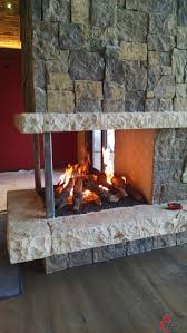 three sided fireplaces mason lite by masonry fireplace industries