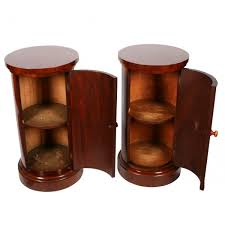 Pedestal Cabinets Antique Bedside Cabinets Two Circular Bedside Cabinets