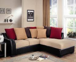 Sleeper Sectional Sofa For Small Spaces Furniture Black Leather Sleeper Sofa Combined With Table L On