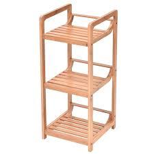Bathroom Shelf Organizer by 3 Tier Bathroom Shelf Bamboo Bath Storage Space Saver Organizer