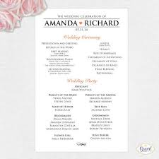 catholic mass wedding programs one sided wedding program template badi deanj