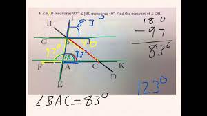 angles worksheet 8th grade youtube
