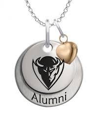alumni chain depaul blue demons alumni necklace with heart accent depaul