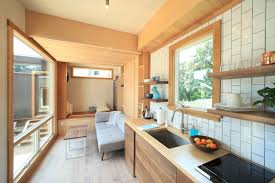 model home interior design modern tiny house hides a drop bed curbed