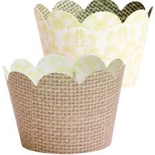 amazon com burlap cupcake wrappers 36 rustic baby shower