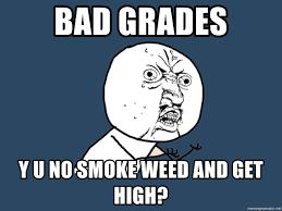 Y U No Meme Creator - bad grades y u no smoke weed and get high y u no meme generator