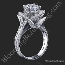 amazing engagement rings 1 78 ctw original large blooming beauty flower ring bbr434