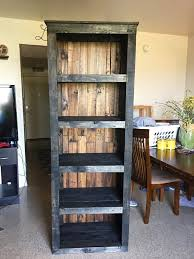 Building Wood Bookcase by Beautiful Pallet Bookcase Pallets Pallet Projects And Woodworking